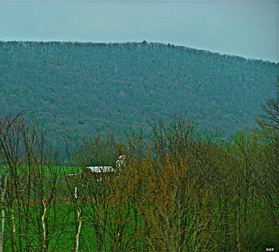 Delicate Mountain Scape Photograph - Farm Tucked Mountaintop  by Debra     Vatalaro
