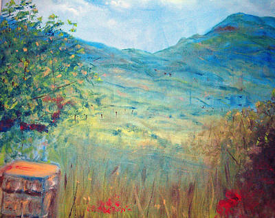 Farm View Near Davis Mountains Art Print by Richalyn Marquez