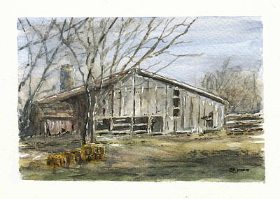 Photograph - Farm Winter by Barry Jones