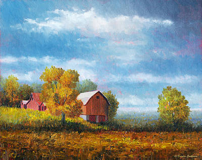Painting - Farm With Trees by Douglas Castleman