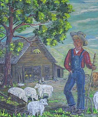 Painting - Farm Work II by Phyllis Mae Richardson Fisher