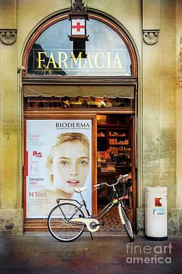 Photograph - Farmacia Bioderma Bicycle by Craig J Satterlee