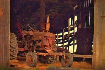 Photograph - Farmall 300 #1. South Hero, Vermont by George Robinson