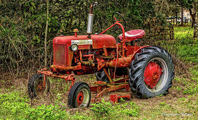Print featuring the photograph Farmall Cub by Christopher Holmes