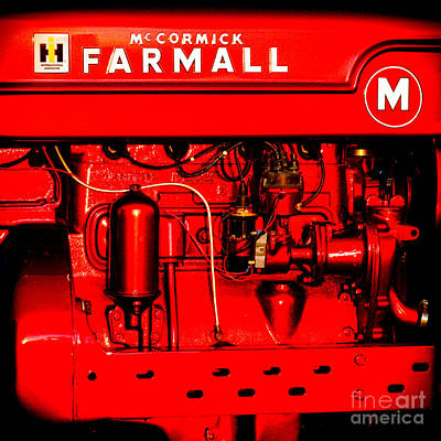 Photograph - Farmall Engine Detail by Olivier Le Queinec