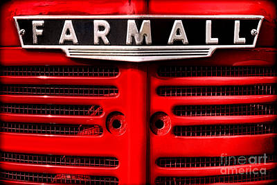 Photograph - Farmall Grille by Olivier Le Queinec