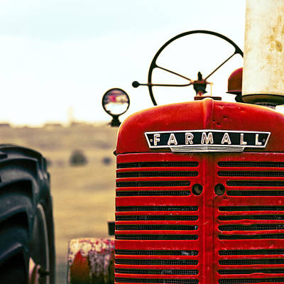 Machinery Photograph - Farmall by Humboldt Street
