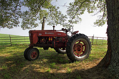 Photograph - Farmall In The Field 2 by Mike Eingle