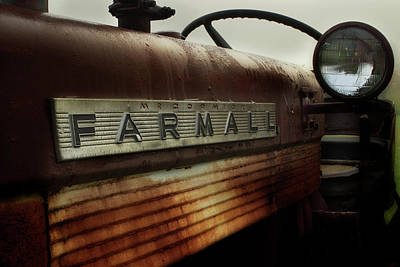 Photograph - Farmall In The Rain by Mike Eingle