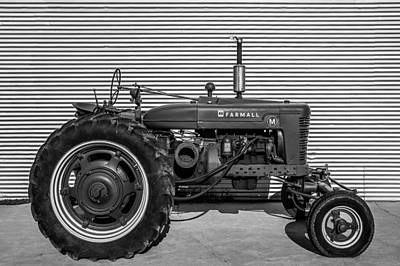 Sheet Metal Photograph - Farmall M And Steel by Todd Klassy