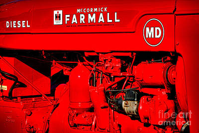 Photograph - Farmall Md by Olivier Le Queinec