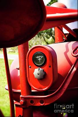 Photograph - Farmall Tractor - Crank Up Those Amps #778 by Ella Kaye Dickey