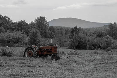 Photograph - Farmall Tractor - Dedham Maine by Kirkodd Photography Of New England