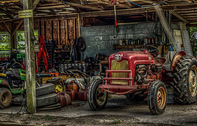 Photograph - Farmall Tractor - Forever Florida by Robin Blaylock