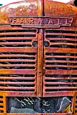 Photograph - Farmall Tractor Grill by Colleen Kammerer