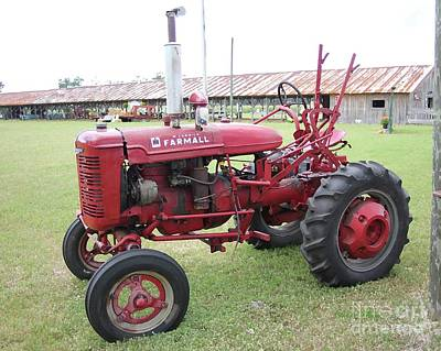 Photograph - Farmall Tractor In Red by Dodie Ulery
