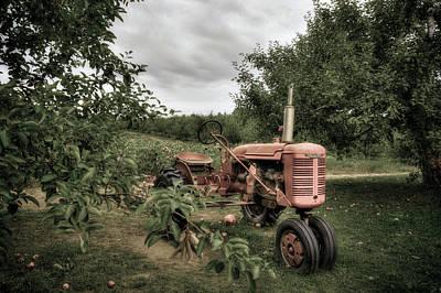 Autumn Scenes Photograph - Farmall Tractor On A Farm  by Joann Vitali