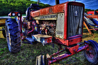 Photograph - Farmall Tractor  by Roger Passman
