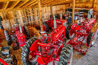 Photograph - Farmall Tractors Refurbished by Gene Sherrill