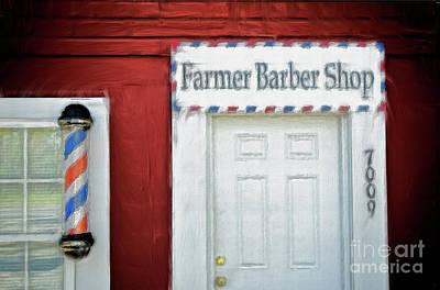 Painting - Farmer Barber Shop Ap by Dan Carmichael