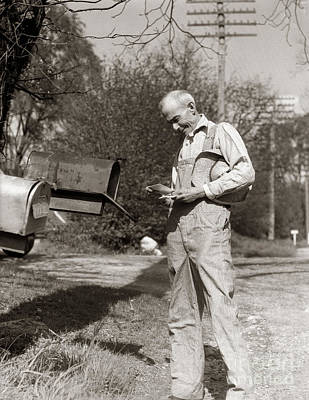 Farmer Checking Mailbox, C.1930s Art Print by H. Armstrong Roberts/ClassicStock