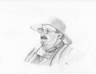 Drawing - Farmer by Ekta Gupta