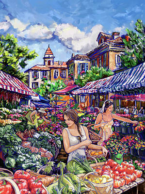 Farmers Market Painting - Farmer Market by Tim Gilliland