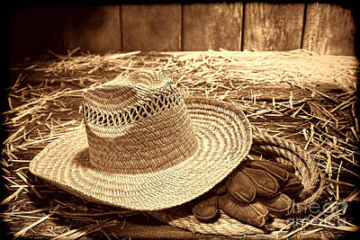 Photograph - Farmer Straw Hat by American West Legend By Olivier Le Queinec