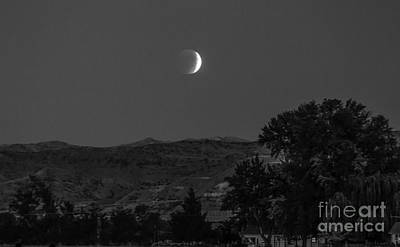 Photograph - Farmer View Of Supermoon Eclipse by Robert Bales