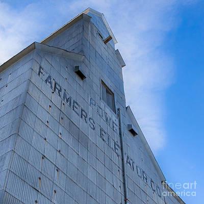 Montana Digital Art - Farmers Grain Elevator, Power, Montana by Jerry Fornarotto