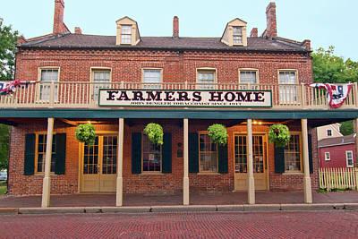 Farmer's Home Art Print by Steve Stuller
