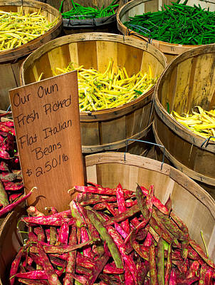 Green Beans Photograph - Farmers Market by Andrew Kubica