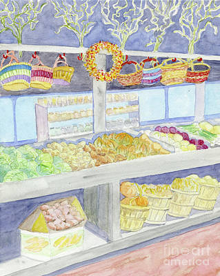 Painting - Farmer's Market by Anne Marie Brown