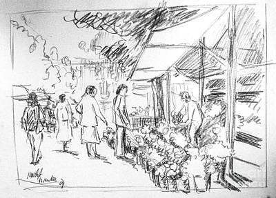 Farmers Market Art Print