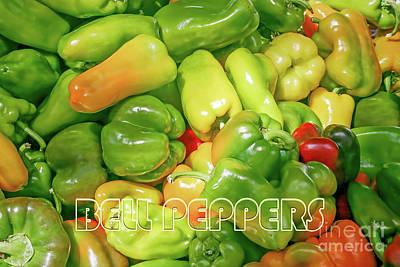 Photograph - Farmers Market - Bell Peppers by Gabriele Pomykaj