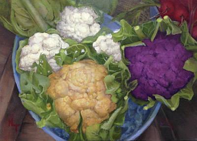 Cauliflower Painting - Farmers Market Cauliflower by Norma Torti