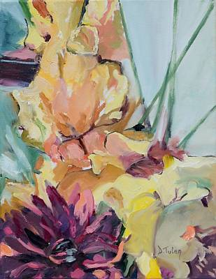 Donna Summer Painting - Farmers Market Flower Bouquet by Donna Tuten