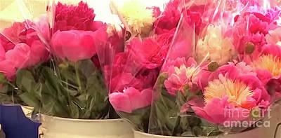 Photograph - Farmers Market Flowers by Karen Francis