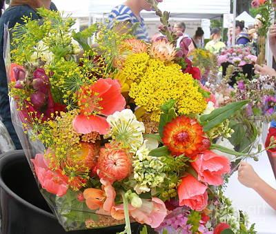Photograph - Farmer's Market Flowers by Nancy Kane Chapman