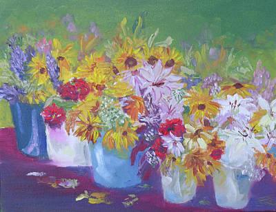 Farmers Market Flowers Print by Robert P Hedden