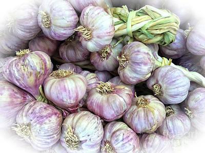 Photograph - Farmers Market Garlic Bulbs by Gabriele Pomykaj