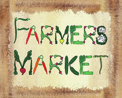 Mixed Media - Farmers Market by Irina Sztukowski