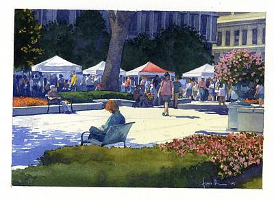 Painting - Farmers Market, Madison by James Faecke
