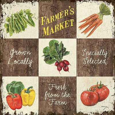Vegetables Mixed Media - Farmer's Market Patch by Debbie DeWitt