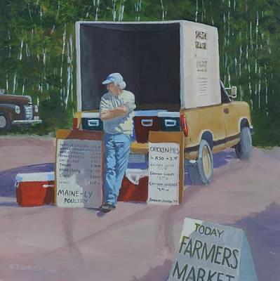 Painting - Farmers Market Patience - Art By Bill Tomsa by Bill Tomsa