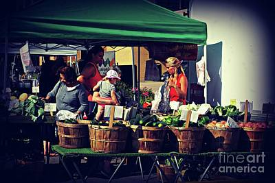 Frank J Casella Royalty-Free and Rights-Managed Images - Farmers Market Produce  by Frank J Casella