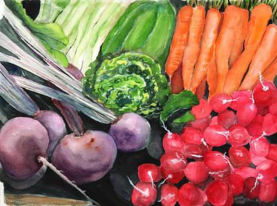 Pepper Painting - Farmers Market by SallyAnn Rogers