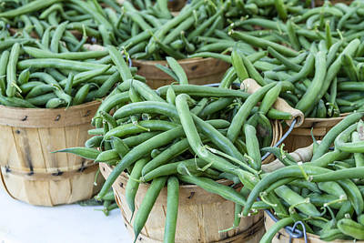 Farmers Market String Beans Art Print by Teri Virbickis