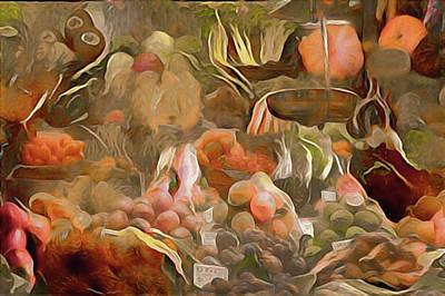 Potato Mixed Media - Farmers Market by Susan Maxwell Schmidt