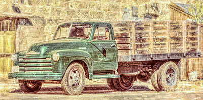 Photograph - Farmers Market Truck by Jean OKeeffe Macro Abundance Art